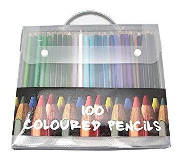 カラフル色えんぴつランダム100本(携帯ケース入り) 豊富な色彩 今流行の塗り絵やスケッチなどに[メール便発送、送料無料、代引不可]【YDKG-kd】【smtb-KD】[子供][消耗品]
