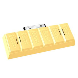 VERSOS iPod/iPhone用 チョコレ−ト型 コンパクトスピーカー BB500 おしゃれ かわいい ミニ スピーカー (ホワイト)[定形外郵便、送料無料、代引不可]