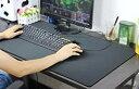 レザー調 デスクマット ブラック 80×40cm 大型 デスク マット マウスパッド[送料無料(一部地域を除く)]