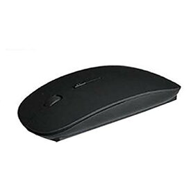 極薄 光学式 ワイヤレスマウス コンパクト 薄型 無線 2.4GHz USBマウス (ブラック)[定形外郵便、送料無料、代引不可]
