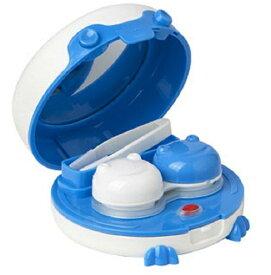 カエル型 携帯用 コンタクトレンズクリーナー 洗浄器 クリーナー カラコン ソフト ハード (ブルー)[定形外郵便、送料無料、代引不可]