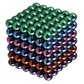 強力磁石の立体パズル マグネットボール 216個セット 5mm カラフル ネオジム磁石 パワーボール 立体パズル[[定形外郵便、送料無料、代引不可]