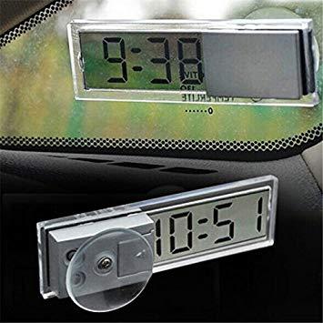 超薄型 デジタル時計 吸盤式 車載 小型 シンプル キッチン リビング[メール便発送、送料無料、代引不可]【YDKG-kd】【smtb-KD】