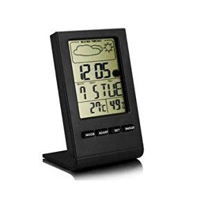卓上マルチ温湿度計 温度計 湿度計 置時計 デジタル表示 目覚まし時計 アラーム 天気表示[定形外郵便、送料無料、代引不可]