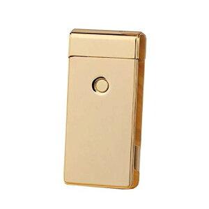 USB充電 アーク放電 プラズマライター ジッポータイプ (ゴールド)[ゆうパケット発送、送料無料、代引不可]