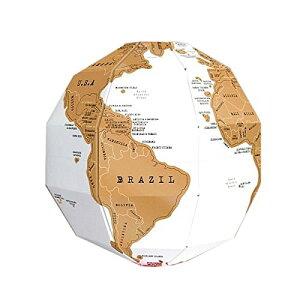 組立式 けずれる 地球儀 スクラッ地図 組み立て式 インテリア 世界地図[ゆうパケット発送、送料無料、代引不可]
