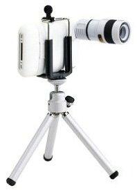 テック iPhone 3G/3GS対応光学8倍望遠レンズ IPL-WH (ホワイト)[送料無料(一部地域を除く)]