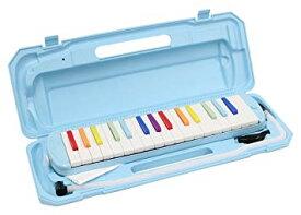 KC キョーリツ 鍵盤ハーモニカ メロディピアノ 32鍵 虹色 P3001-32K/NIJI (ドレミ表記シール・クロス・お名前シール付き)[送料無料(一部地域を除く)]