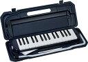 KC キョーリツ 鍵盤ハーモニカ メロディピアノ 32鍵 ネイビー P3001-32K/NV (ドレミ表記シール・クロス・お名前シール…