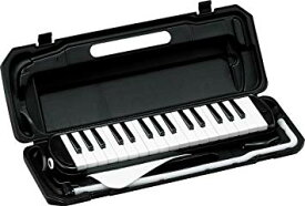 KC キョーリツ 鍵盤ハーモニカ メロディピアノ 32鍵 ブラック P3001-32K/BK (ドレミ表記シール・クロス・お名前シール付き)[送料無料(一部地域を除く)]