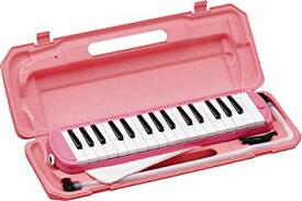 KC キョーリツ 鍵盤ハーモニカ メロディピアノ 32鍵 ピンク P3001-32K/PK (ドレミ表記シール・クロス・お名前シール付き)[送料無料(一部地域を除く)]