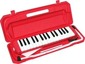 KC キョーリツ 鍵盤ハーモニカ メロディピアノ 32鍵 レッド P3001-32K/RD (ドレミ表記シール・クロス・お名前シール付き)[送料無料(一部地域を除く)]