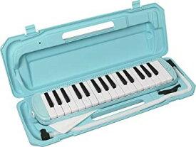 KC キョーリツ 鍵盤ハーモニカ メロディピアノ 32鍵 ライトブルー P3001-32K/UBL (ドレミ表記シール・クロス・お名前シール付き)[送料無料(一部地域を除く)]