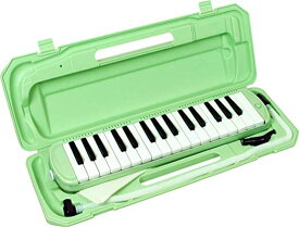 KC キョーリツ 鍵盤ハーモニカ メロディピアノ 32鍵 ライトグリーン P3001-32K/UGR (ドレミ表記シール・クロス・お名前シール付き)[送料無料(一部地域を除く)]