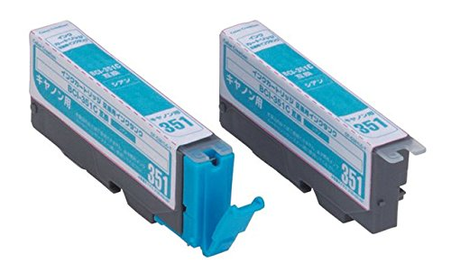 Color Creation キャノン BCI-351C互換 インクカートリッジ シアン 交換用タンク CF-C351LC T1【YDKG-kd】【smtb-KD】[プリンター][消耗品][定形外郵便、送料無料、代引不可]