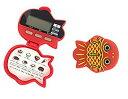 時計・ストップウォッチ機能付 金魚型5徳歩数計 かわいいデザイン 万歩計[定形外郵便、送料無料、代引不可]