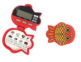 時計・ストップウォッチ機能付 金魚型5徳歩数計 かわいいデザイン 万歩計【YDKG-kd】【smtb-KD】[定形外郵便、送料無料、代引不可]