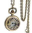 不思議の国のアリス 風 懐中時計 ウサギ 鍵 おしゃれ レディース アンティーク ペンダント 時計[定形外郵便、送料無料…