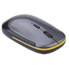 マウス 超薄型 軽量 ワイヤレスマウス USB 光学式 3ボタン 2.4G コンパクト マウス (グレー)[定形外郵便、送料無料、代引不可]