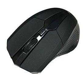 マウス ワイヤレス ゲーミングマウス USB 光学式 4ボタン 2.4G (マットブラック)[定形外郵便、送料無料、代引不可]