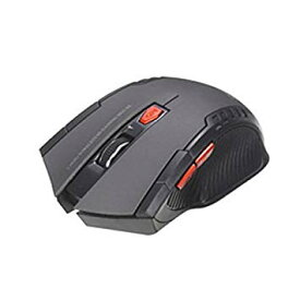 マウス 無線 ワイヤレスマウス USB 光学式 6ボタン 2.4G (グレー)[定形外郵便、送料無料、代引不可]