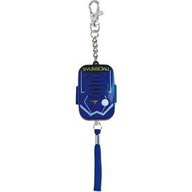 デビカ 防犯ブザー・アラーム ブルー サイズ:約W3.9×D3×H6.7cm(ストラップ・チェーンを除く)[定形外郵便、送料無料、代引不可]