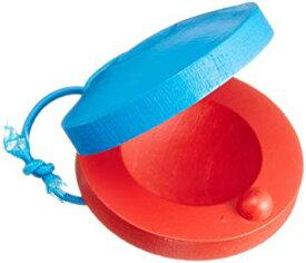 木製 カスタネット 直径5.5cm おもちゃ 教育用楽器 幼児教育 リズム感 楽器[定形外郵便、送料無料、代引不可]