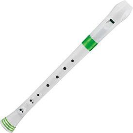 NUVO ヌーボ ソプラノリコーダー ジャーマン式 FGREGNJP Recorder (White/Green) ホワイト/グリーン 【国内正規品】[定形外郵便、送料無料、代引不可]