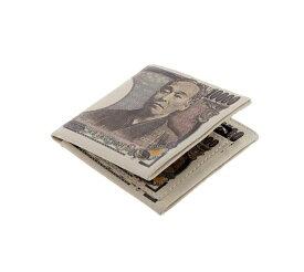 イミテーション 1万円札デザイン財布 諭吉 財布 メンズ 二つ折り 札入れ 小銭入れ おもしろ雑貨【smtb-KD】[財布][定形外郵便、送料無料、代引不可]