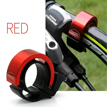 BICYCLE BELL ハンドルベル レッド アラーム 大音量 バイク ハンドルバー ホーン MI-TJ45-5-RD[メール便発送、送料無料、代引不可]【YDKG-kd】【smtb-KD】[自転車用品]