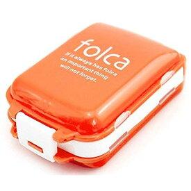 3段分割 ピルケース 《オレンジ/ホワイト》 薬入れ 携帯ケース 収納ケース【smtb-KD】[定形外郵便、送料無料、代引不可]