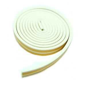 隙間テープ 《ホワイト》 長さ最大5m すきまテープ 防音 吸収 窓 ドア サッシ 虫 侵入防止[定形外郵便、送料無料、代引不可]