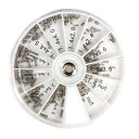 修理ツール 眼鏡用ねじ 《120個入り》 めがね サングラス用ねじ 詰め合せキット ネジ ナット 時計用 工具[定形外郵便…