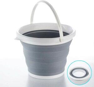 ソフトバケツ 折りたたみ 《10L》 洗い桶 大容量 便利 車載 釣り 洗車 掃除 アウトドア[送料無料(一部地域を除く)]