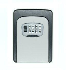 4桁ダイヤル式 セキュリティ キーボックス 《グレー》 暗証番号 鍵 収納ボックス 防犯 盗難防止[送料無料(一部地域を除く)]