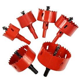 6点セット 穴あけ ホールソー 工具 DIY 木板 合板 ステンレス DIY インパクト ドライバー 電動[送料無料(一部地域を除く)]