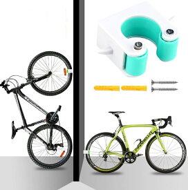 自転車 壁 ディスプレイスタンド 《ロードバイク用》 《ブルー》 壁掛け ラック[定形外郵便、送料無料、代引不可]