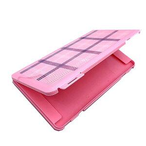 2-3枚収納 マスクケース 《ピンク》 チェック 収納ケース 持ち歩き マスク入れ 保管ケース[定形外郵便、送料無料、代引不可]