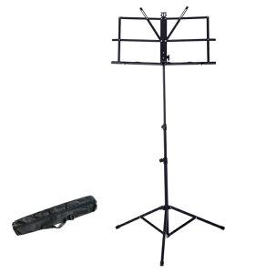 折りたたみ 譜面台 楽譜スタンド 軽量 高さ64-136cm 調節可能 [送料無料(一部地域を除く)]