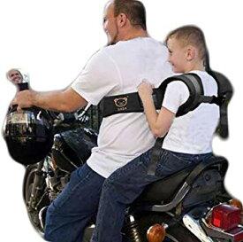 子供と安全にタンデム! バイク用 オートバイ 補助ベルト サスペンダー 親子 ツーリング シートベルト 二人乗り[送料無料(一部地域を除く)]