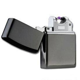 USB充電式 スパークライター 2043 《ブラック》 アーク放電 プラズマライター ジッポータイプ【YDKG-kd】【smtb-KD】[ゆうパケット発送、送料無料、代引不可]