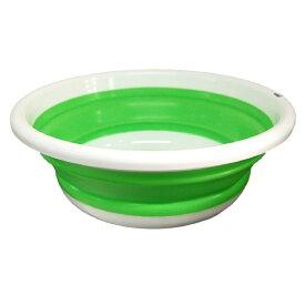 カクセー おりたたみ式 洗い桶 丸型 33cm【YDKG-kd】[新生活][お風呂][送料無料(一部地域を除く)]