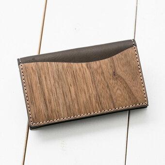 VARCOREALWOODデザインカードケース名刺入れメンズレディース革本革ヌメ革革製レザー木木製天然木日本製和柄革小物女性用ブランドかわいいシンプルビジネスおしゃれヴァーコ
