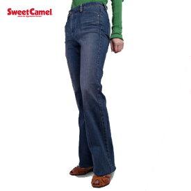 1000円ポッキリ 送料無料 [55cm] 小さいサイズ ブーツカット レディース ジーンズ ※ウエスト55cm Sweet Camel スウィートキャメル SS-M535 デニム 女性 ブランド ボトムス パンツ 40代 ブーツカットジーンズ ポイント消化