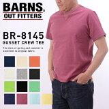 【BARNS】【バーンズ】丸胴ボディユニオンフラットシーマ縫製ヴィンテージクルーネックTシャツBR-8145