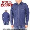 "FULLCOUNT 最大计数 4894 [a5w""牛仔西部衬衫 8 盎司牛仔衬衫长袖"
