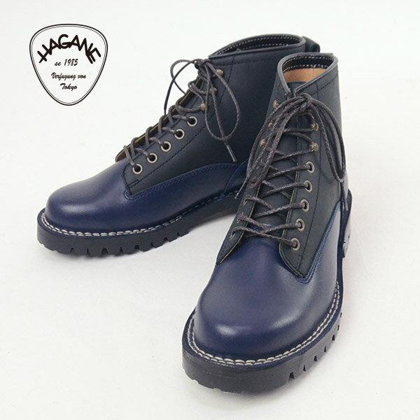 【閉店セール30%OFF】HAGANE ハガネ 221005[a7s]靴ブーツ NAVY×BLACK【3】【4】