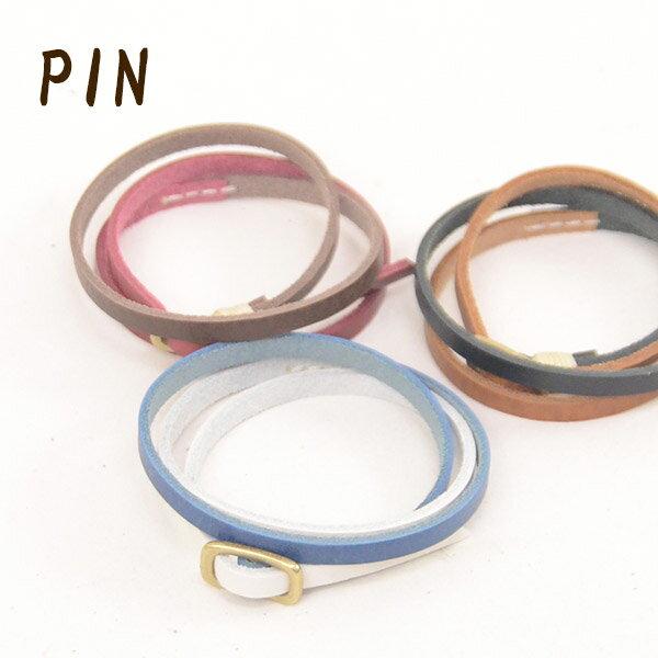 [売り切りセール60%OFF]PIN ピン PI-2866 ツートンカラー レザーブレスレット メンズ 男性