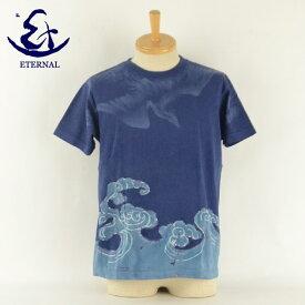 ETERNAL エターナル 94016 HAND LEVEL 不死鳥 手染めプリントTシャツ 半袖 メンズ 男 ブランド
