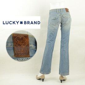 【訳有り/在庫処分】LUCKY BRAND ラッキーブランド 10-521133 フラップ付きバックポケットレディースジーンズ デニム ブーツカット ブレアー